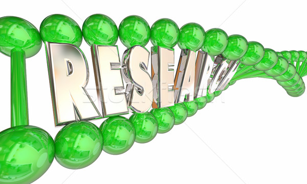 Research DNA Biotech Medical Word Strand 3d Illustration Stock photo © iqoncept