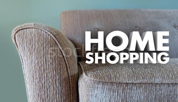 Stock fotó: Otthon · vásárlás · bútor · bolt · szavak · kanapé