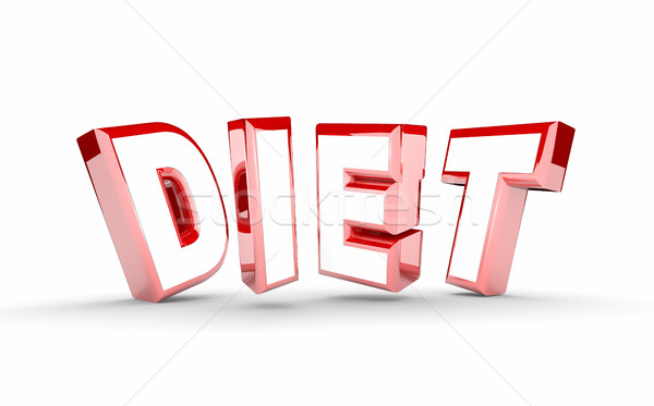 Diet Word Lose Weight Plan Get Fit 3d Illustration Stock photo © iqoncept