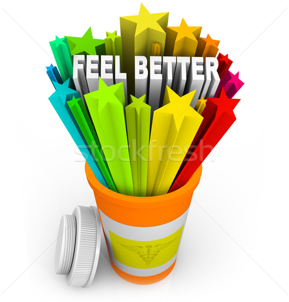 Feel Better - Prescription Medicine Beats Sickness Stock photo © iqoncept