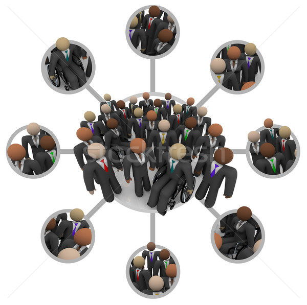Diverse Workforce of Connected Professional People in Suits Stock photo © iqoncept