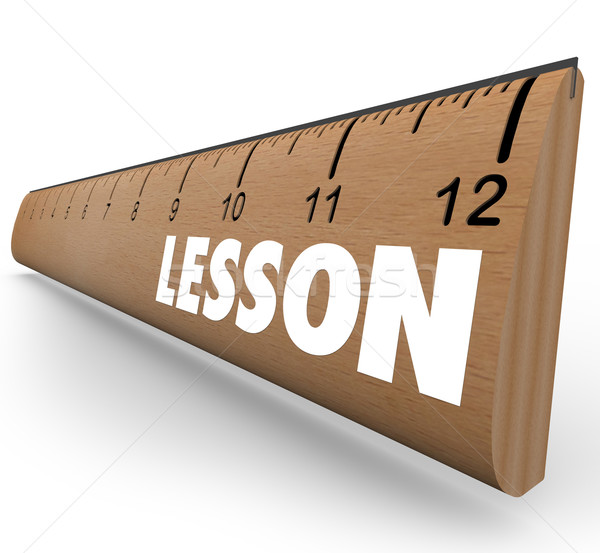 Lesson Word on Ruler Teach Message Education Stock photo © iqoncept