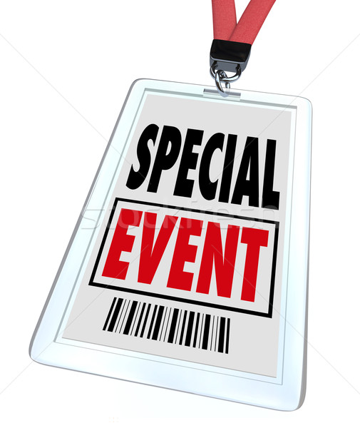 Special Event Badge Lanyard Conference Expo Convention Stock photo © iqoncept