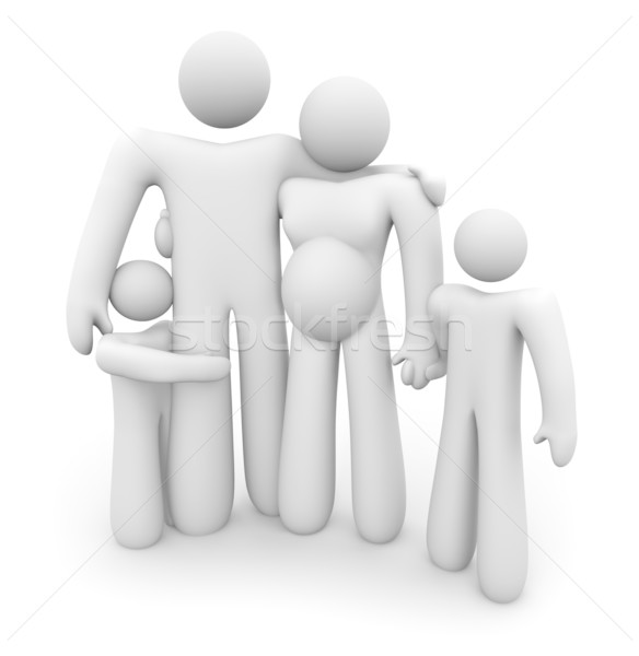 Expectant Mother and Her Family Stock photo © iqoncept