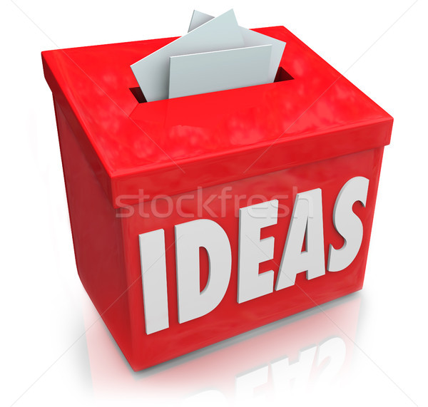 Ideas Creative Innovation Suggestion Box Collecting Thoughts Ide Stock photo © iqoncept