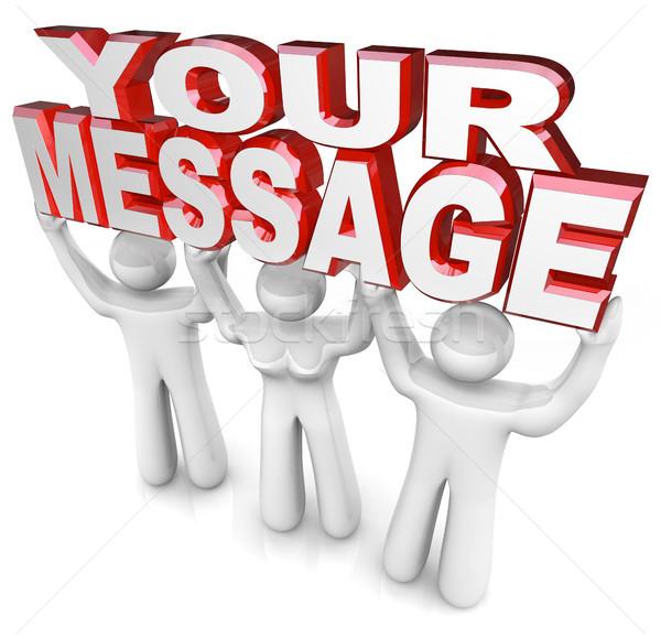 Сток-фото: команда · люди · лифт · слов · сообщение · реклама