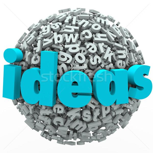 Ideeën brief bal bol creativiteit verbeelding Stockfoto © iqoncept