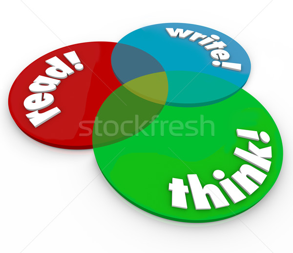 Read Write Think Venn Diagram Cognitive Learning Development Stock photo © iqoncept