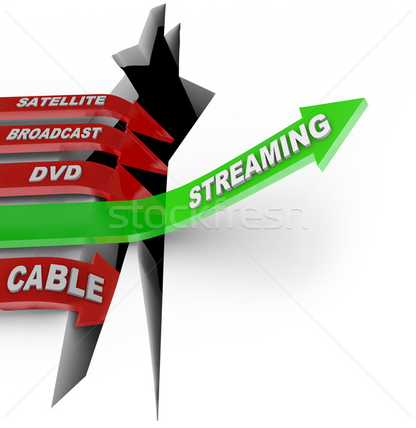 Streaming Beats Satellite Broadcast DVD Cable TV Viewing Stock photo © iqoncept