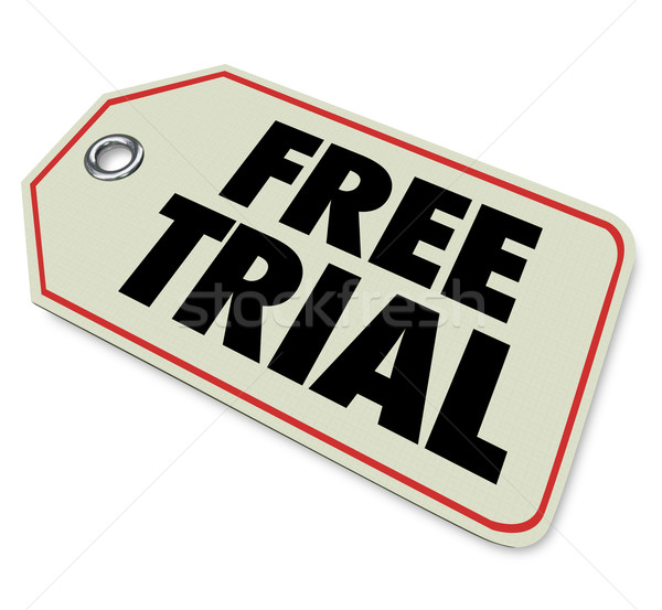 Free Trial Price Tag Special Offer Limited Time Stock photo © iqoncept