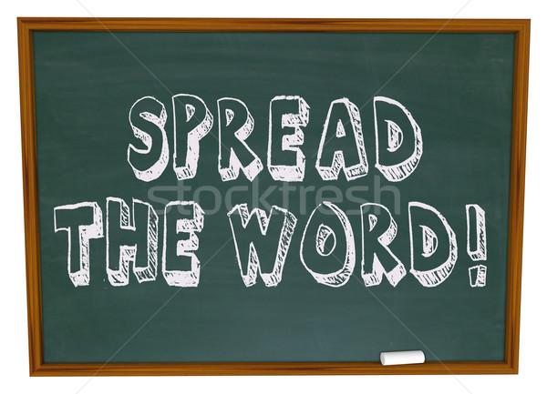 Szó tábla szavak írott iskola háttér Stock fotó © iqoncept