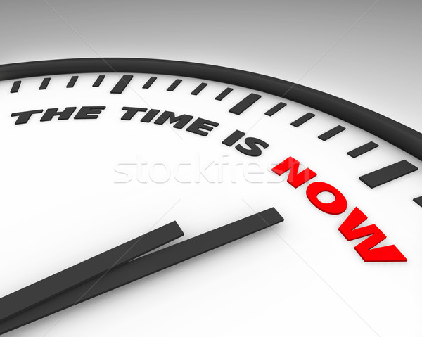 The Time is Now - Clock Stock photo © iqoncept