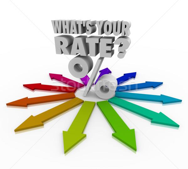 Gyakoriság százalék felirat beruházás visszatérés kamatláb Stock fotó © iqoncept
