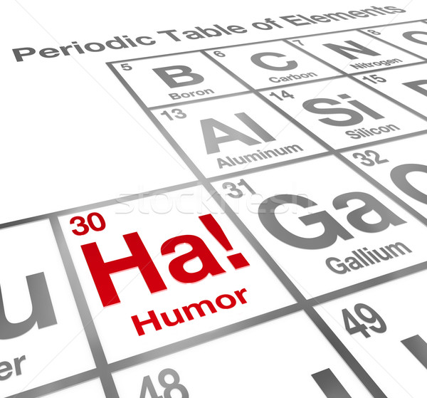 Ha Humor Element Periodic Table Funny Laughter Comedy Stock photo © iqoncept