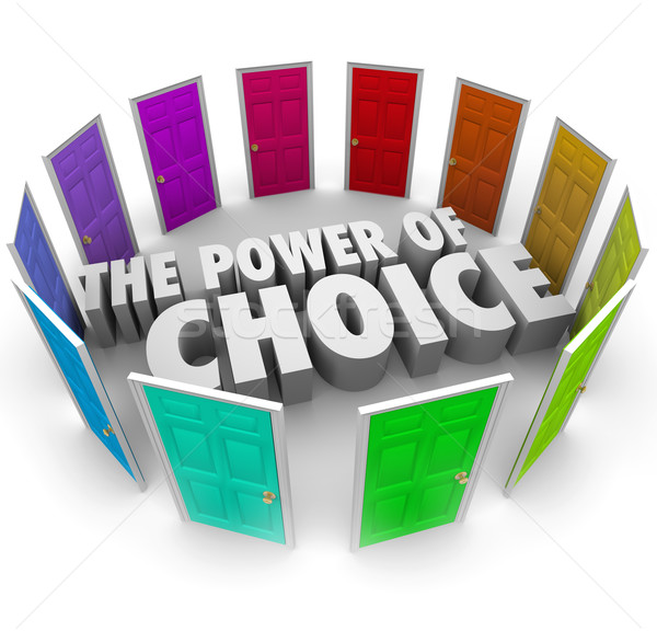 Power of Choice Many Doors Opportunity Decide Best Option Stock photo © iqoncept