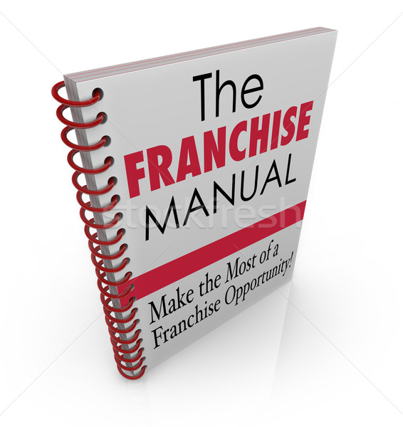 Franchise Manual Book Cover Instructions Help Advice Business Fr Stock photo © iqoncept