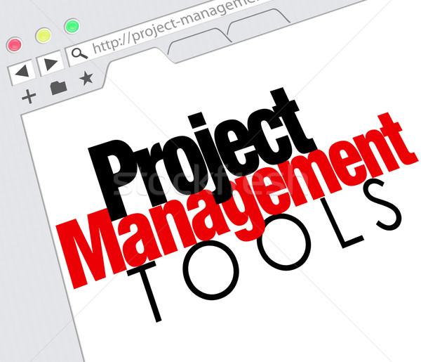 Proje yönetim araçları çevrimiçi web sitesi Stok fotoğraf © iqoncept