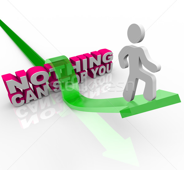 Nothing Can Stop You - Man On Arrow Stock photo © iqoncept