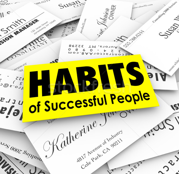 Habits of Successful People Business Cards Stock photo © iqoncept