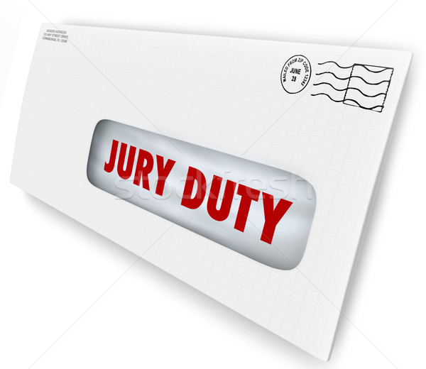 Jury Duty Envelope Summons Appear Court Legal Law Case Stock photo © iqoncept