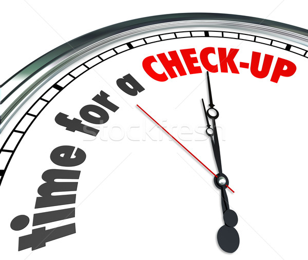 Time for A Check-Up Words Clock Physical Exam Evaluation Stock photo © iqoncept
