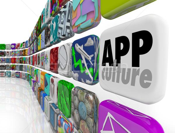 App cultuur downloaden programma samenleving Stockfoto © iqoncept