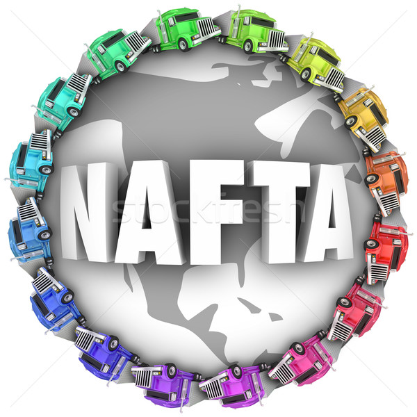 NAFTA North American Free Trade Agreement Trucks Stock photo © iqoncept