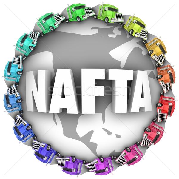 Norte americano livre comércio acordo caminhões Foto stock © iqoncept
