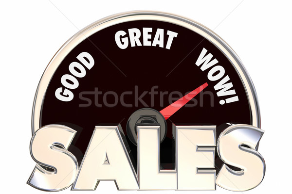 Sales Great Increase Improved Revenue Money Deals Speedometer 3d Stock photo © iqoncept