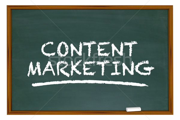 Content Marketing Chalk Board Words Learning 3d Illustration Stock photo © iqoncept