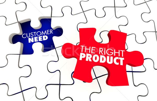 Klienta potrzeba najlepszy produktu puzzle Zdjęcia stock © iqoncept