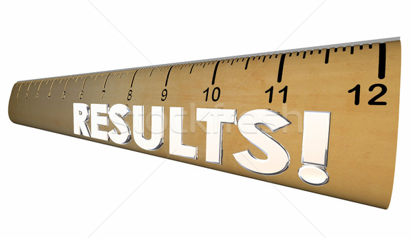 Results Ruler Measure Output Word 3d Illustration Stock photo © iqoncept