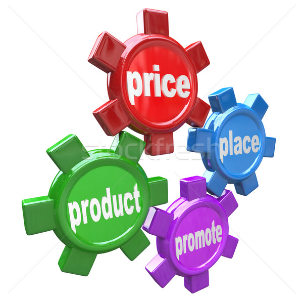 Four Ps the Principles of Marketing Mix Successful Business Stock photo © iqoncept