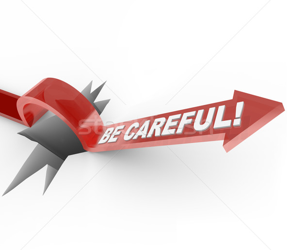 Be Careful - Be Alert Warning for Dangerous Hazard Stock photo © iqoncept