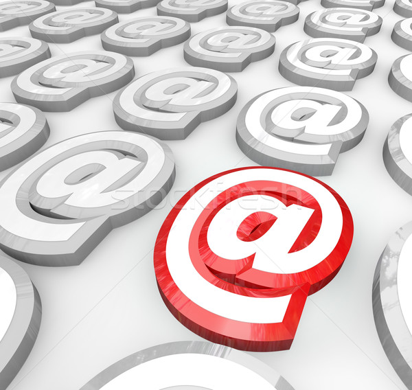 Email At Symbol for Internet Web Communication Message Stock photo © iqoncept