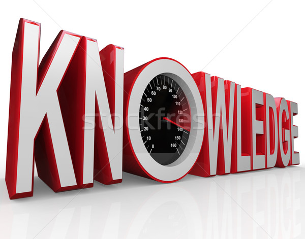 Knowledge Speedometer Word Learning is Power Stock photo © iqoncept