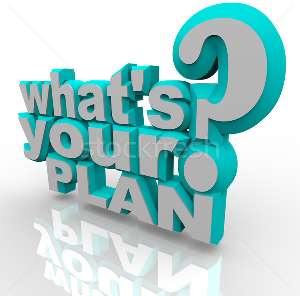 What's Your Plan - Ready Planning for Success Strategy Stock photo © iqoncept