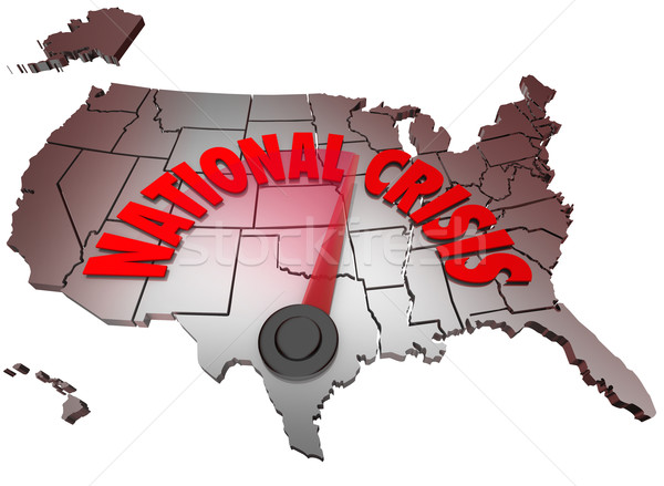 National Crisis USA Map United States America Trouble Stock photo © iqoncept