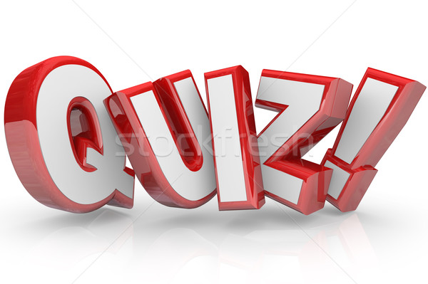 Quiz Red 3D Word Test Exam Assessment Stock photo © iqoncept