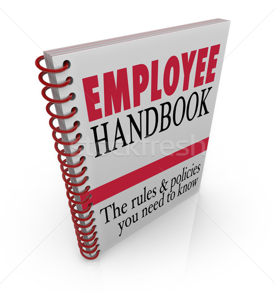 Stock photo: Employee Handbook Rules Policies Follow at Work Guidelines