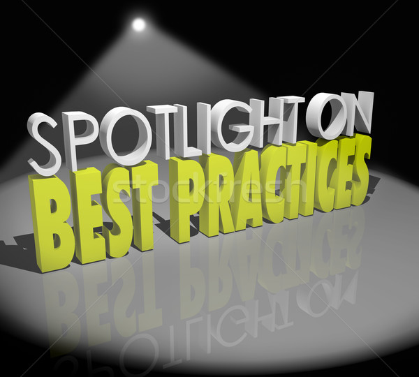Spotlight on Best Practices Words Great Concepts Successful Idea Stock photo © iqoncept