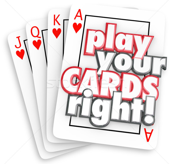 Play Your Cards Right Playing Game Strategy Win Competition Stock photo © iqoncept