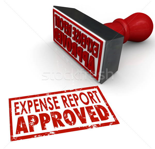 Expense Report Approved Stamp Submit Enter Costs Reimbursement Stock photo © iqoncept
