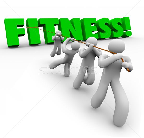 Fitness mot équipe ensemble Photo stock © iqoncept