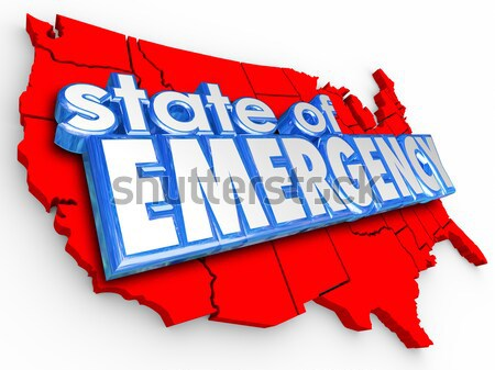 State of Emergency 3d Words Dynamite Bomb Explosive Crisis Disas Stock photo © iqoncept