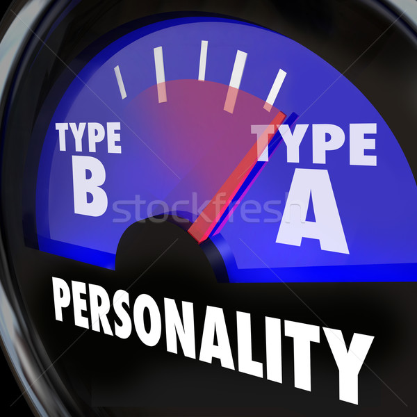 Personality Test Guage Type A High Stress Anxiety Workaholic Amb Stock photo © iqoncept