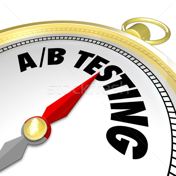 A-B Testing Compass Finding Best Message Most Response Experimen Stock photo © iqoncept
