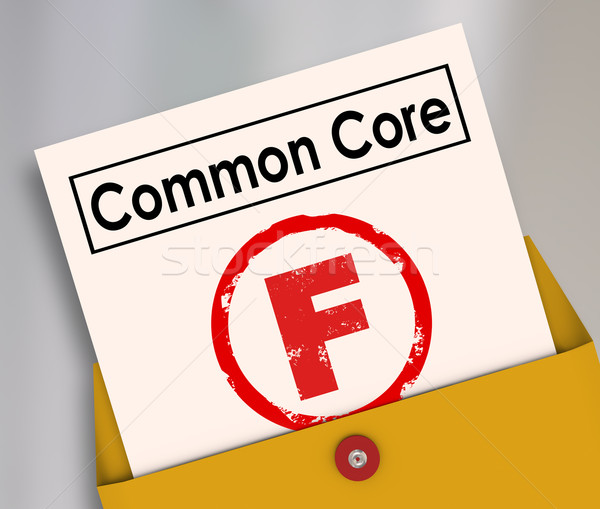 Common Core Bad Score Results Report Card Poor Performance Stock photo © iqoncept