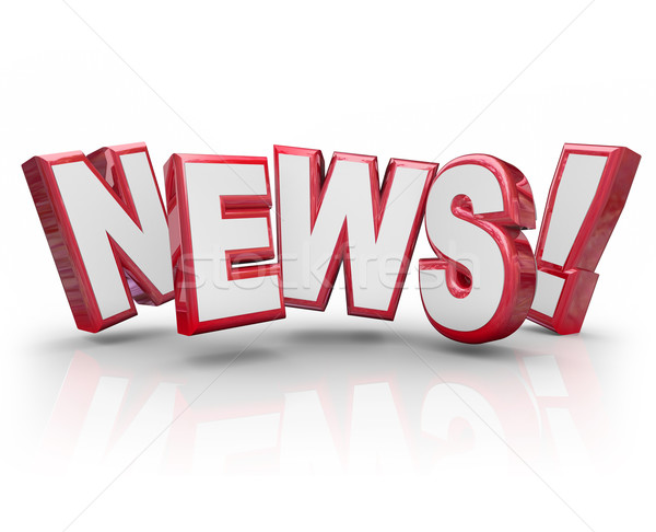 News Update Alert Share Information Gossip Buzz Rumor Stock photo © iqoncept