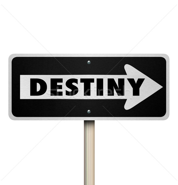 Destiny Future Fate One Way Road Sign Stock photo © iqoncept